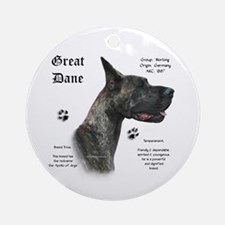 Brindle History Ornament (Round)