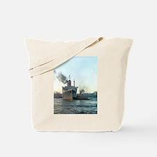 Oceanliner S.S America, 1946 New York Tote Bag