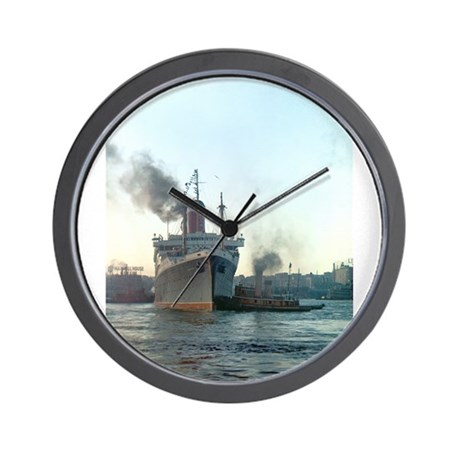 Oceanliner S.S America, 1946 New York Wall Clock