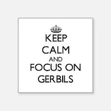 Keep Calm and focus on Gerbils Sticker
