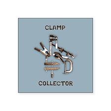 """Clamp Collector Square Sticker 3"""" x 3"""""""