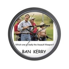 Kerry the Assault Weapon -- Wall Clock