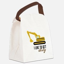I Like To Get Dirty Canvas Lunch Bag