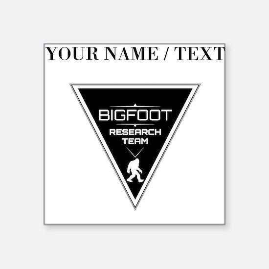 Custom Bigfoot Research Team Triangle Sticker