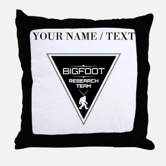 Custom Bigfoot Research Team Triangle Throw Pillow