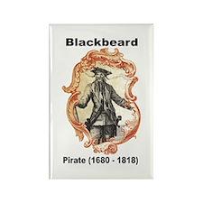 Blackbeard Pirate Rectangle Magnet