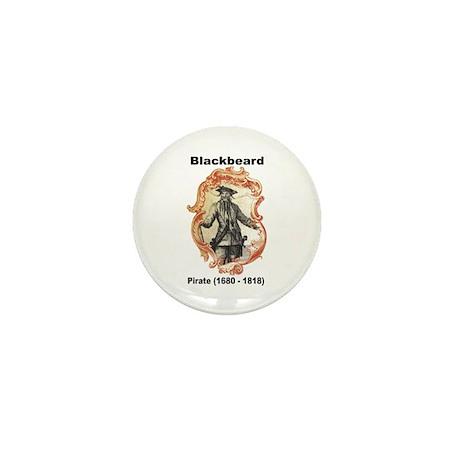 Blackbeard Pirate Mini Button