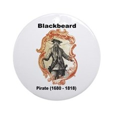 Blackbeard Pirate Ornament (Round)