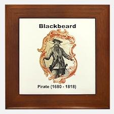 Blackbeard Pirate Framed Tile