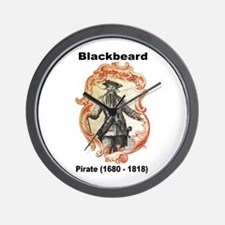 Blackbeard Pirate Wall Clock