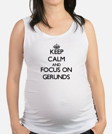 Cool Exercises Maternity Tank Top