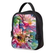 Unique Cactus flower Neoprene Lunch Bag