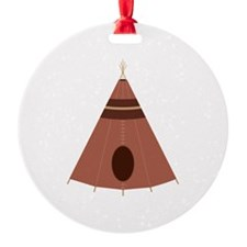 Brown Teepee Ornament