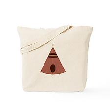 Brown Teepee Tote Bag