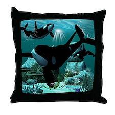 Orcas Throw Pillow