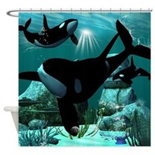 Orcas Shower Curtain