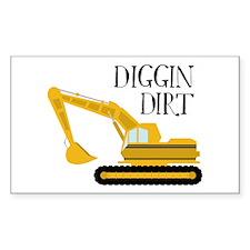 Diggin Dirt Decal