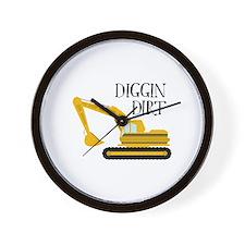 Diggin Dirt Wall Clock