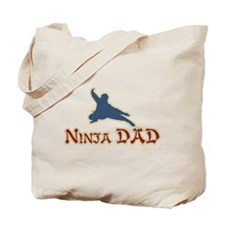 Vintage Ninja Dad Father's Day Tote Bag
