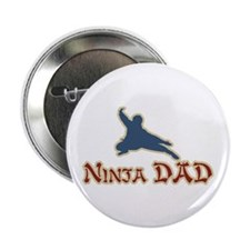 """Vintage Ninja Dad Father's Day 2.25"""" Button (100 p"""