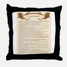 Cute Commitment Throw Pillow