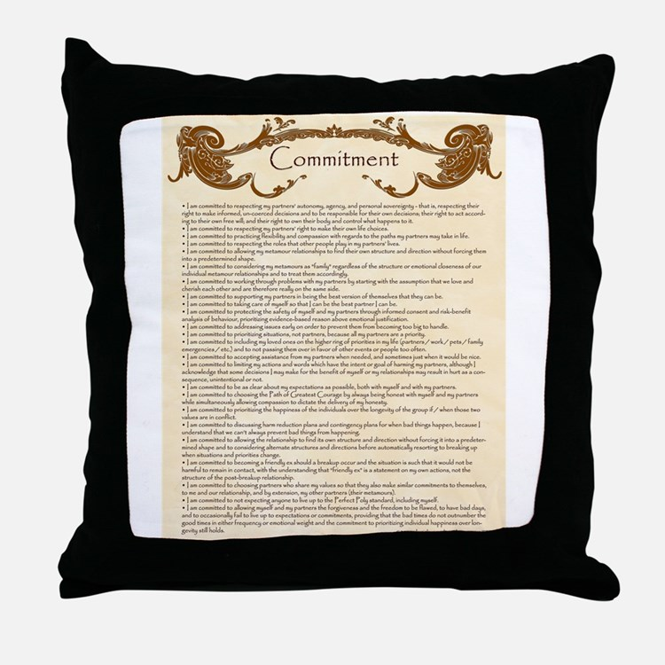 Cute Open marriage Throw Pillow