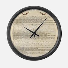 Funny Polyamory Large Wall Clock