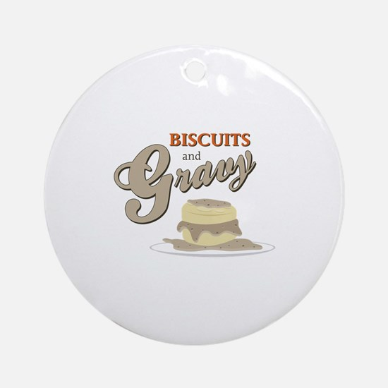 Biscuits & Gravy Ornament (Round)