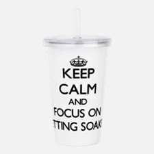 Unique Keep calm and say i do Acrylic Double-wall Tumbler