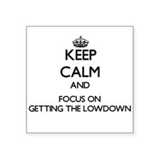 Keep Calm and focus on Getting The Lowdown Sticker