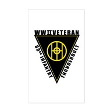 83rd Infantry WWII Veteran Rectangle Decal