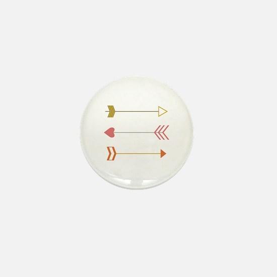 Cupids Arrows Mini Button