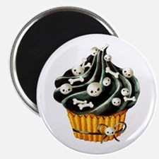 Black Halloween Cupcake Magnets