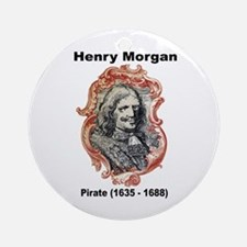 Henry Morgan Pirate Ornament (Round)