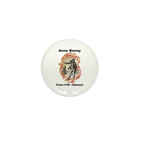 Anne Bonny Pirate Mini Button