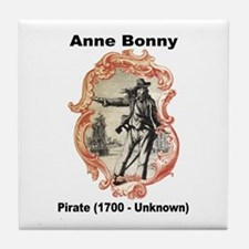 Anne Bonny Pirate Tile Coaster