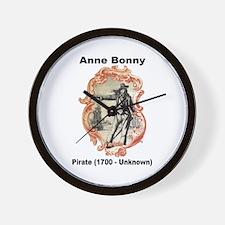 Anne Bonny Pirate Wall Clock