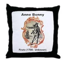 Anne Bonny Pirate Throw Pillow