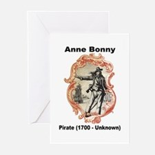 Anne Bonny Pirate Greeting Cards (Pk of 10)