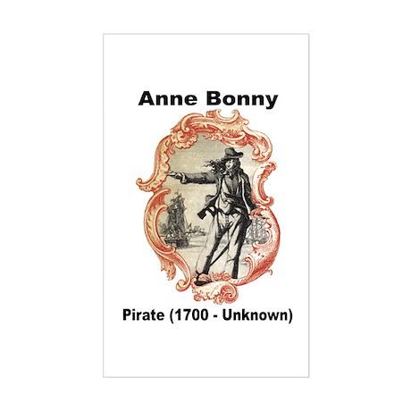 Anne Bonny Pirate Rectangle Sticker