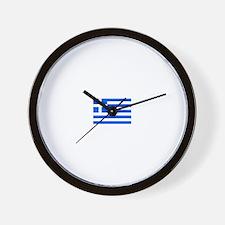 greece flag Wall Clock