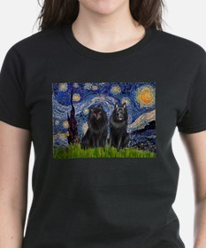 Starry Night & Schipperke Tee