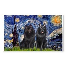 Starry Night & Schipperke Decal