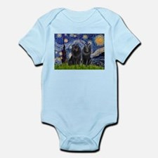 Starry Night & Schipperke Infant Bodysuit