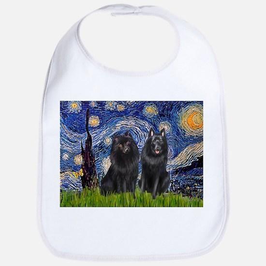 Starry Night & Schipperke Bib