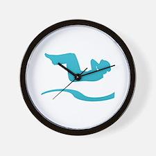 Funny Logo backs Wall Clock