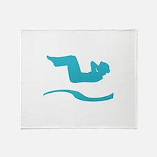 Funny Back logo Throw Blanket