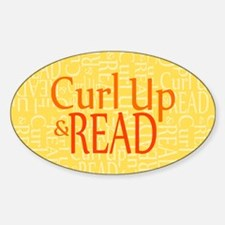 Curl Up and Read Yellow Decal
