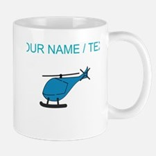 Custom Blue Helicopter Mugs