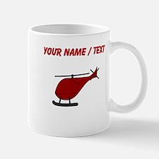 Custom Red Helicopter Mugs